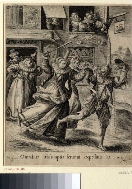The prodigal son feasting with harlots