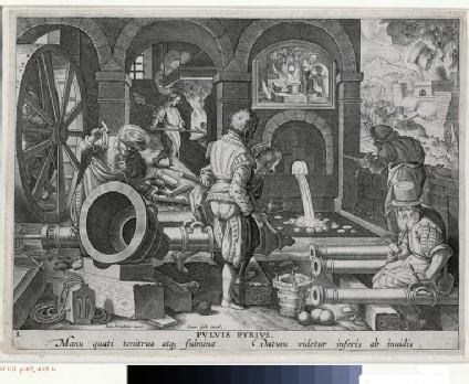The invention of gunpowder
