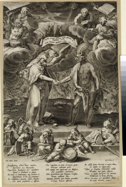 Allegory of marriage between evil and the devil
