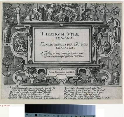 Frontispiece to Theatrum Vitæ Humanæ (The six ages of man)
