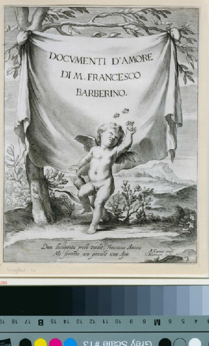 Title-page to Documenti d'Amore