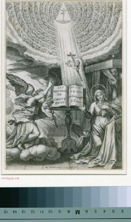 Title-page to 'Les merveilles de l'amour divin'