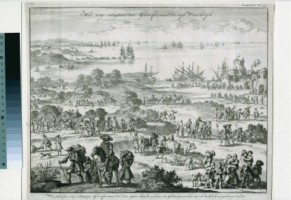Protestants fleeing from France after the revocation of the Edict of Nantes