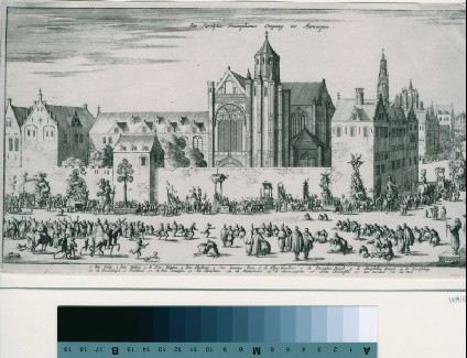 The annual procession in Antwerp