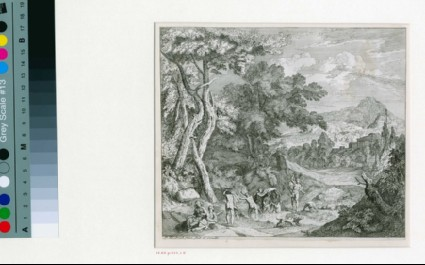 Landscape with Diana bathing in a lake
