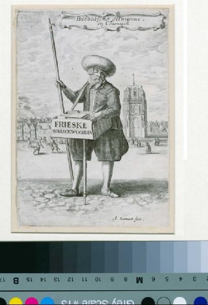 A man selling almanacs