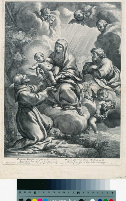 St Francis receiving the Child from the Virgin