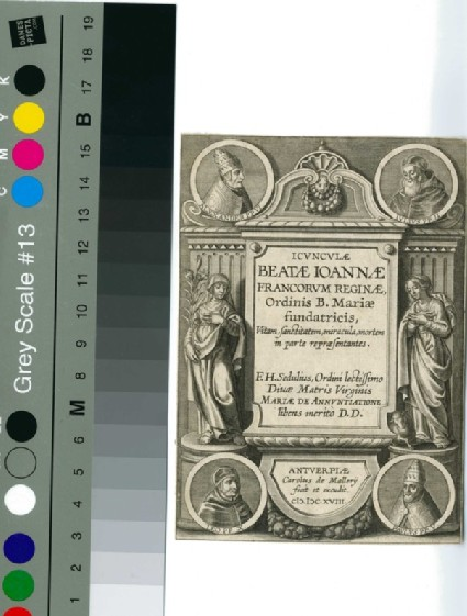 Title-page to Icunculae Beatae Ioannae