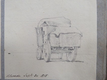 A laden carriage