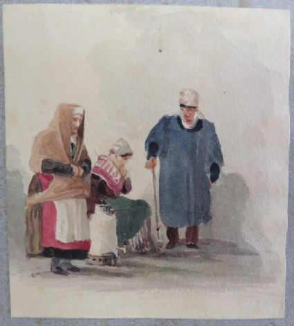 Group of two women and a man