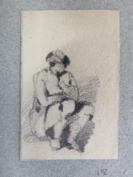 A man crouching