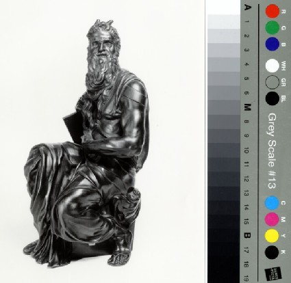 Moses seated, copy after Michelangelo