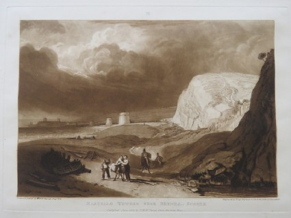 Martello Towers near Bexhill, Sussex (from the Liber Studiorum)