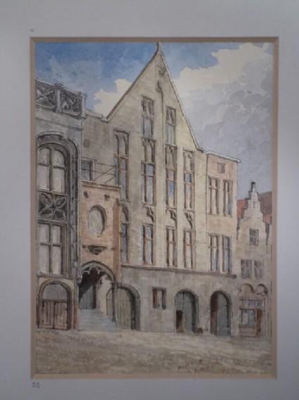 View of the house of Jan Van Eyck in Bruges, Belgium