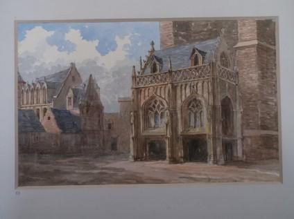 View of Saint-Salvator Cathedral in Bruges, Belgium