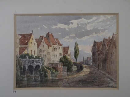 Street view in Bruges, Belgium