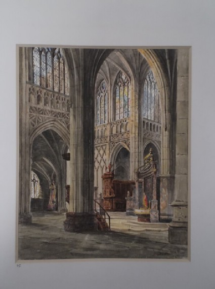 View of the interior of St Hubert Cathedral, Belgium
