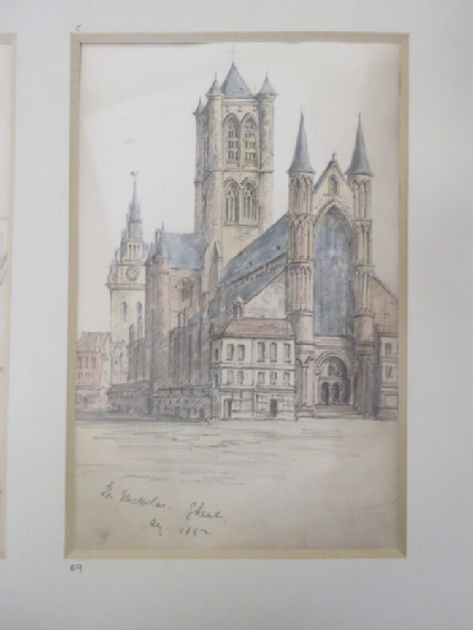 View of St Michael's cathedral in Ghent, Belgium