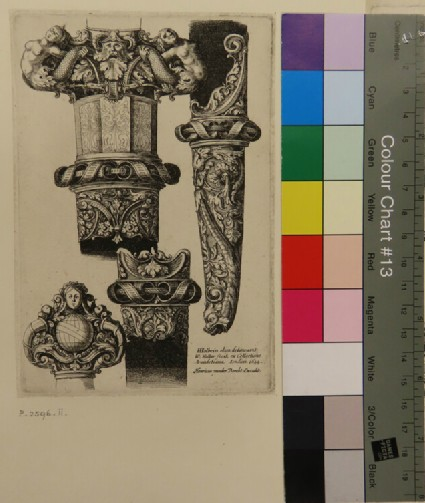 Design for dagger and scabbard, from Douce Ornament Prints Album II