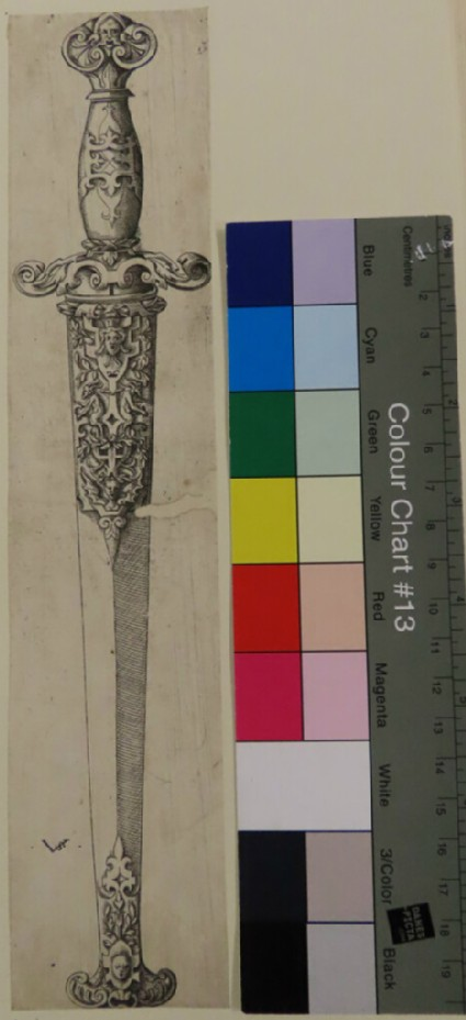 Design for a knife with a bearded head, from Douce Ornament Prints Album II