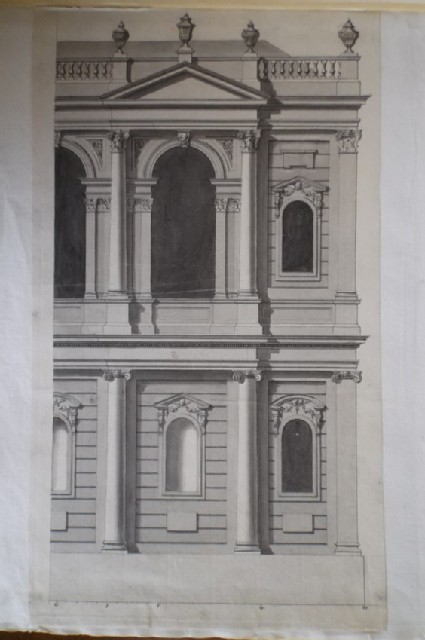 Design for 'Part of the South Side upon a larger Scale' of the church of 'St Mary le Strand'