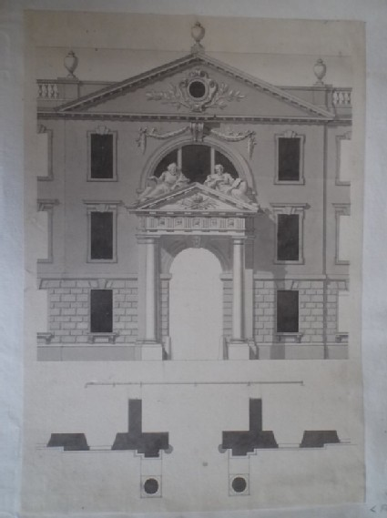 Design for the 'Middle part of the West Side, upon a larger Scale' of King's College, Cambridge