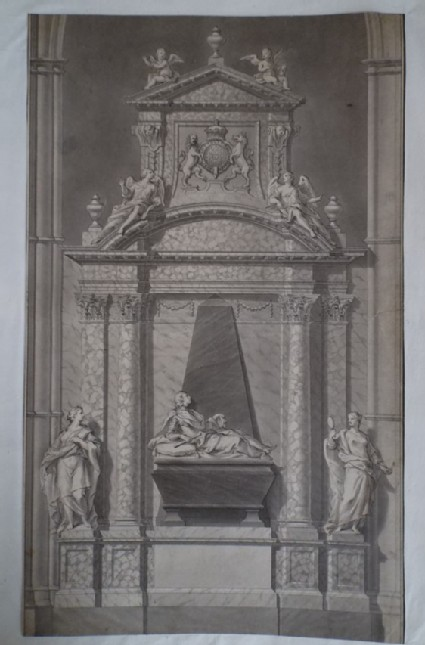 Design for the 'Monument of his Grace John Duke of Newcastle, in Westminster Abbey'