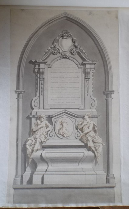Design for a 'Monument for Mrs Catherine Bovey placed in Westminster Abbey'