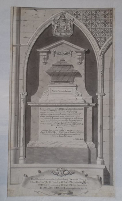Design for 'A Monument erected in Westminster Abby for the Right Honourable the Marchioness of Annandale'