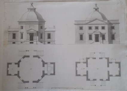 Two designs for 'Two other Pavillions propos'd for the same place, the Right Honourable the Earl of Oxford's Bowling Green at Down Hall in Essex'