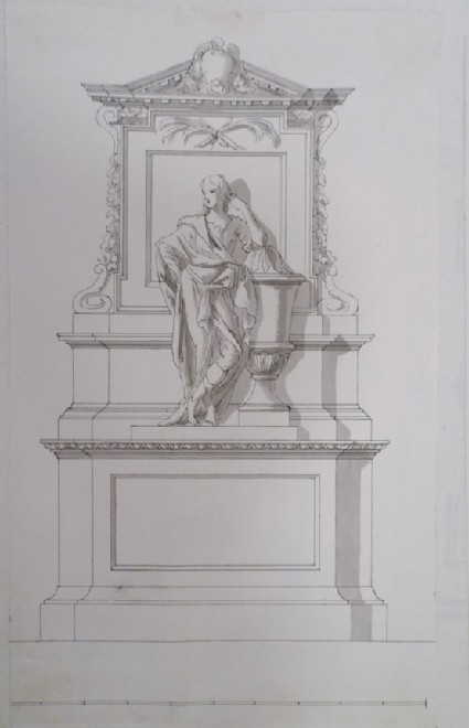 A second draught for the monument to James Craggs, Westminster Abbey