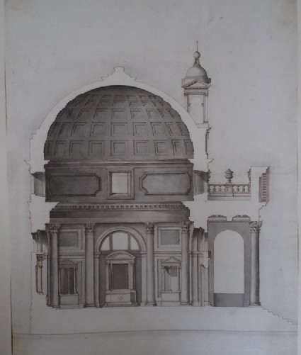 Design of the section of a church in the manner of Palladio