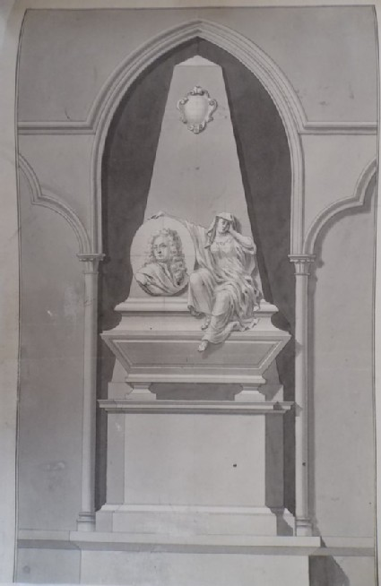 Early design for the monument erected to Mr Smith in Westminster Abbey