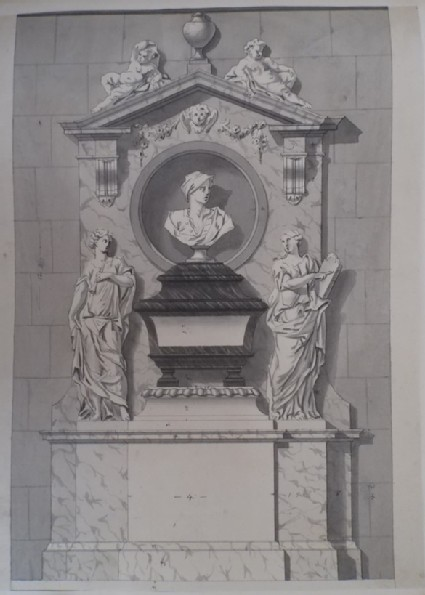 Design for the monument to Mathew Prior Esq., Westminster Abbey
