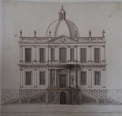 Design for the façade of a country house, perhaps for Duke of Bolton at Abbotstowe