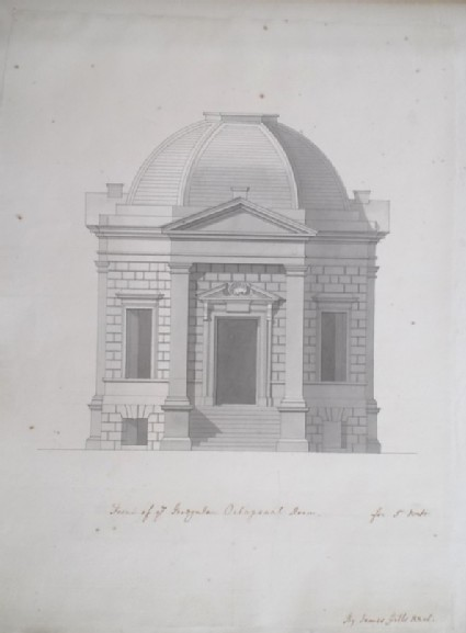 Design of a plan for an octagonal room for Sir Watkins Williams Wynn for the estate of Wynnstay, Wales