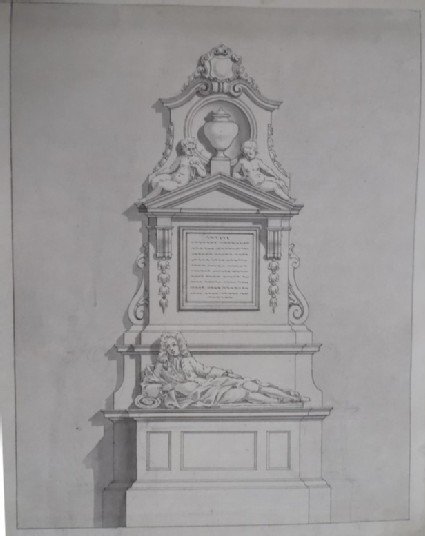 Intermediate design for the monument to Edward Colston Esq., erected at Bristol