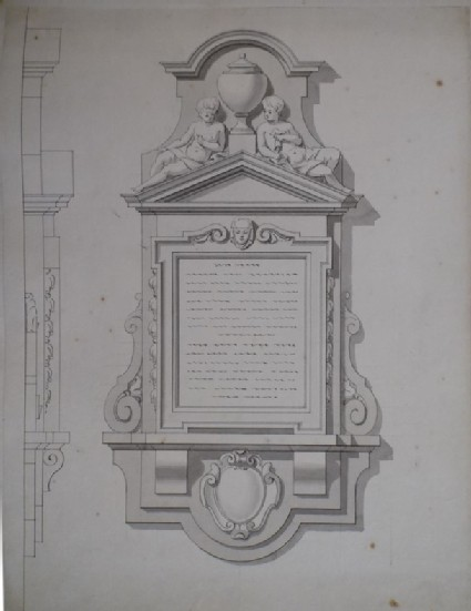 Early design for the monument to Edward Colston Esq., erected at Bristol
