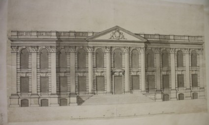 Design of the upright of a large building for Cambridge