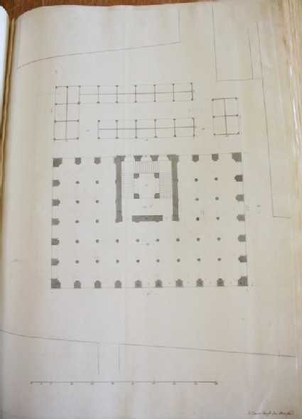 Design of a plan inscribed by Gibbs, 'A Town house for Hartford' (Hertford)