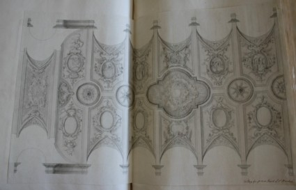 Design of the ornament of a ceiling