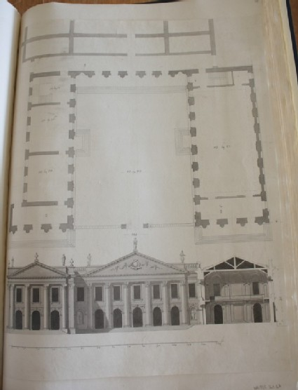 Design of the plan and upright of the group 'Publick Buildings' for Cambridge