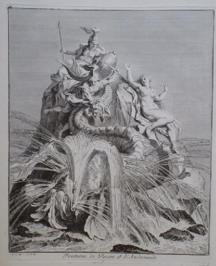 Design for a fountain showing Perseus and Andromeda, from the series 'Recueil de fontaines et de frises maritimes'