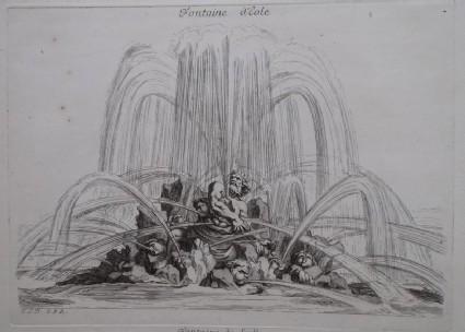 Design for a fountain showing Aeolus, from the series 'Recueil de fontaines et de frises maritimes'