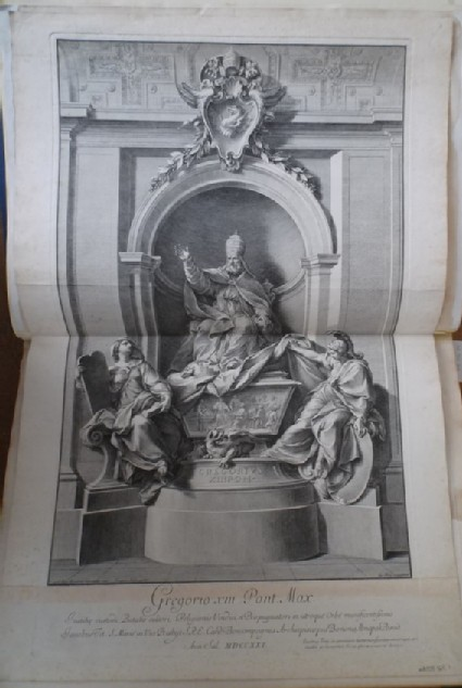 The tomb of Gregory XIII as erected in St Peter's, Rome