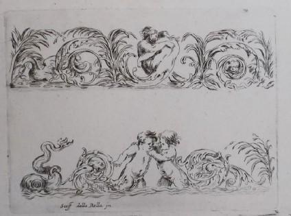 Designs for friezes, 'Frises, feuillages et grotesques'
