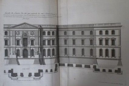 Façade of the Louvre from rue Saint Honoré (part 2)