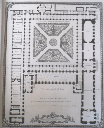 Plan of the ground floor of the new building of the Abbaye Royale de Saint Denis