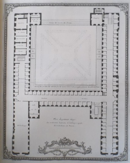 Plan of the first floor of the Abbaye Royale de Saint Denis