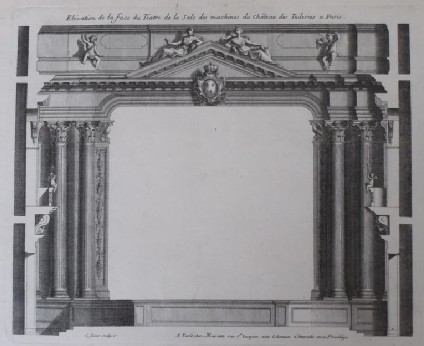 Upright of the facade of the Theatre of the Chateau des Tuileries
